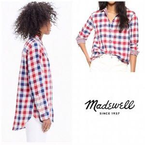 Madewll Ex-boyfriend Emmet Plaid Red & Blue Shirt
